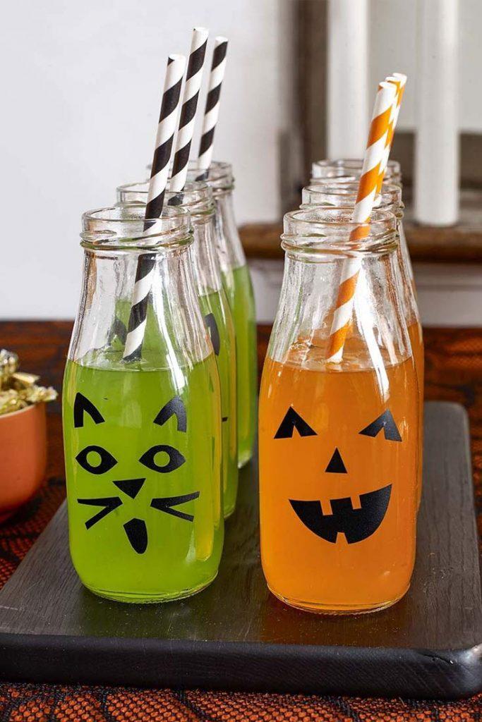 bouteilles d'Halloween