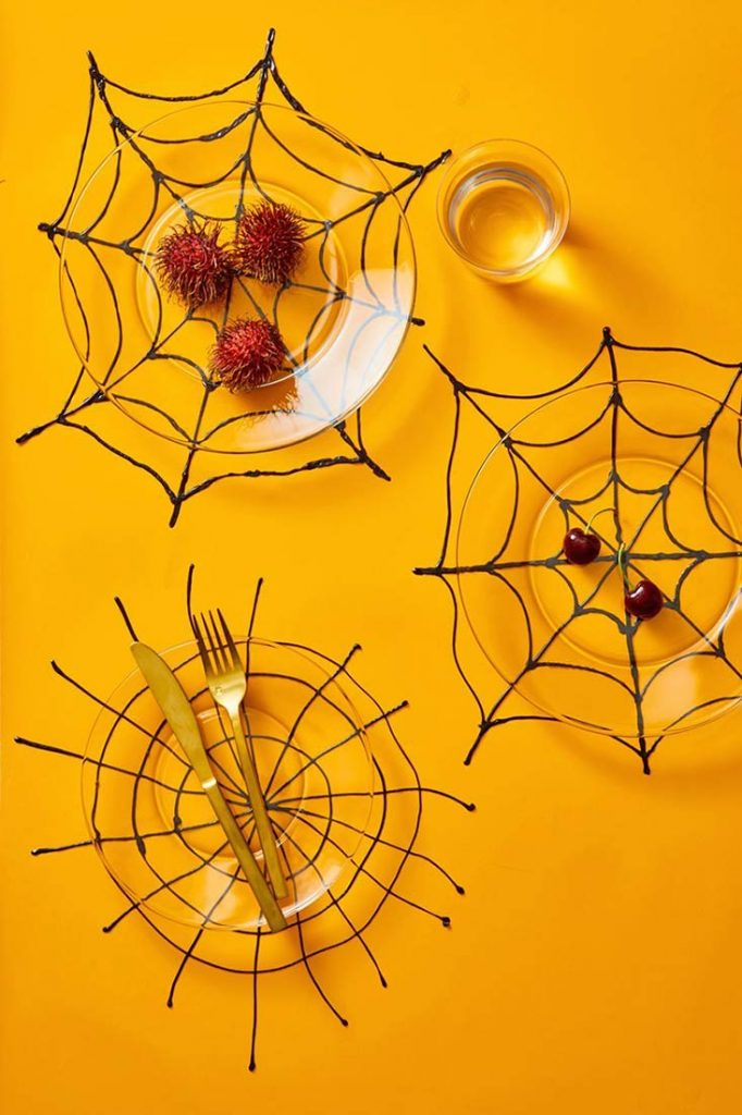 décoration Halloween toile araignée