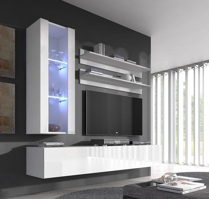 combinaison de meubles nora blanc mod le h2. Black Bedroom Furniture Sets. Home Design Ideas
