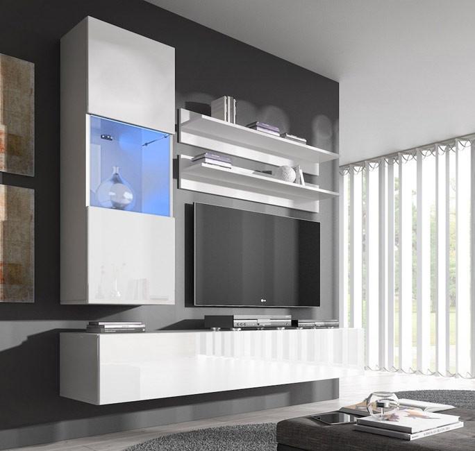 combinaison de meubles nora blanc mod le h3. Black Bedroom Furniture Sets. Home Design Ideas