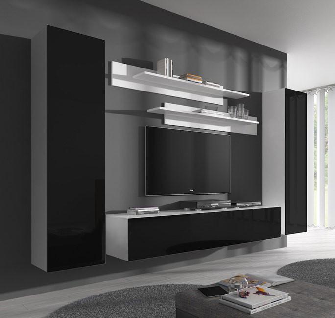 Combinaison De Meubles Nora Blanc Et Noir Modele B1