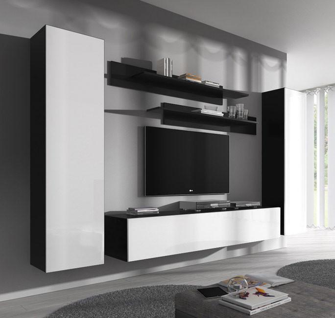 Combinaison De Meubles Nora Noir Et Blanc Modele B1