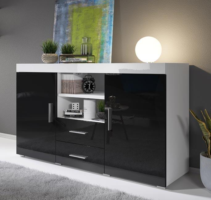 Bahut modèle Roque couleur blanc et noir