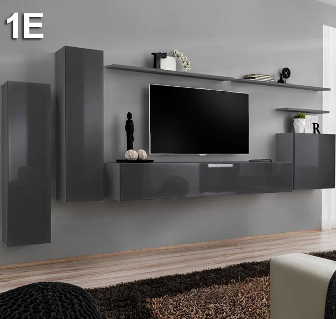 Combinaison de meubles Berit gris modèle 1 E