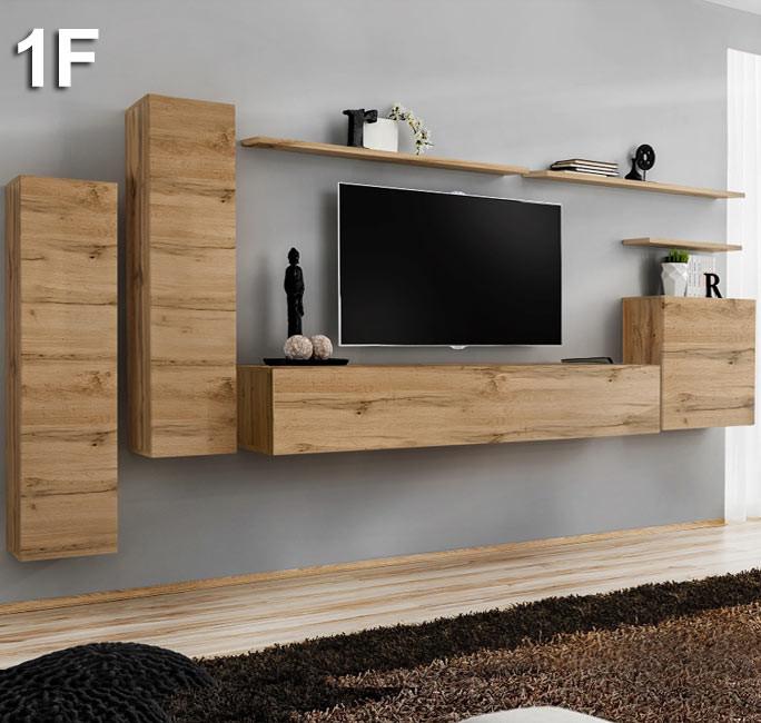 Combinaison de meubles Berit chêne modèle 1 F
