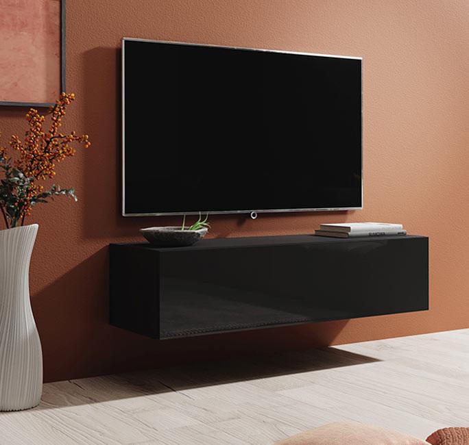 meuble tv berit h120 noir