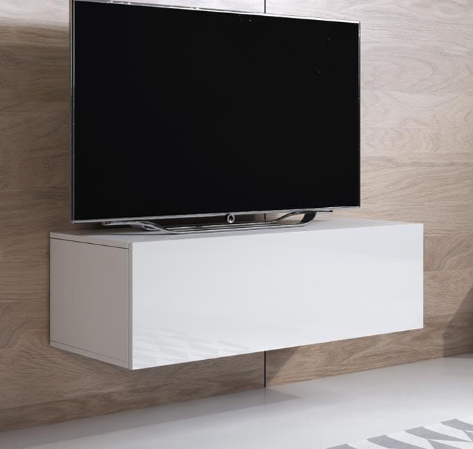 meuble tv luke h1 100x30 blanc