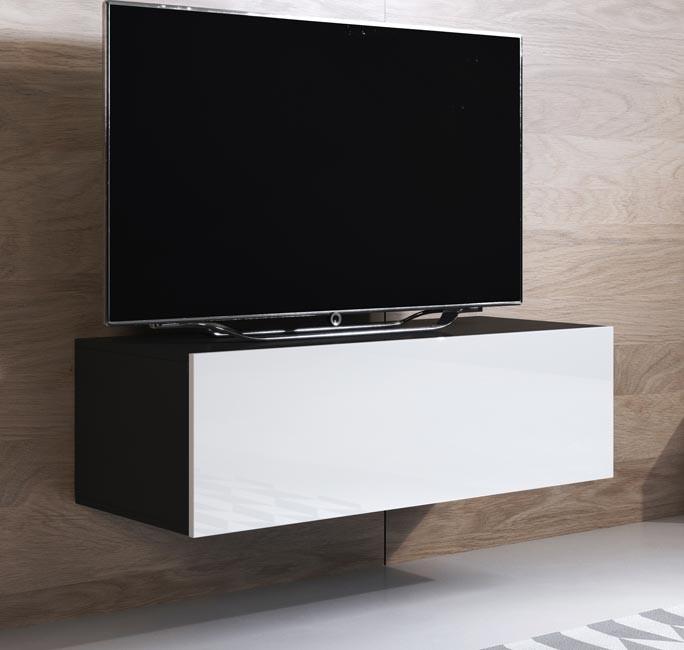meuble-tv-luke-h1-100x30-noir-blanc