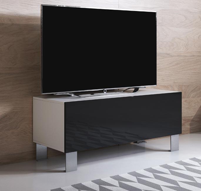 meuble-tv-luke-h1-100x30-pieds-aluminium-blanc-noir