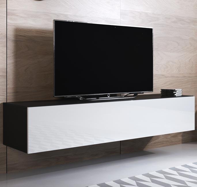 meuble-tv-luke-h2-160x30-noir-blanc