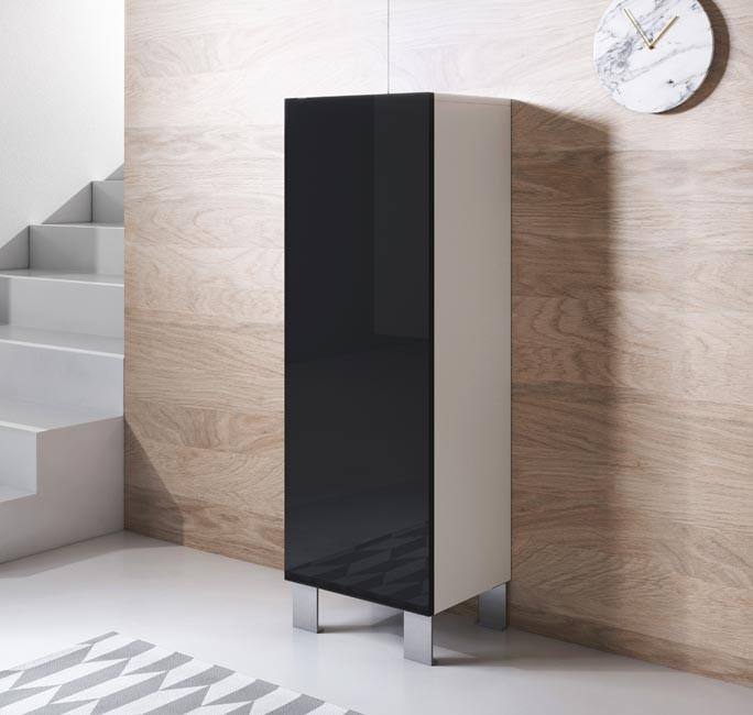 meuble-tv-luke-v1-40x126-pieds-aluminium-blanc-noir