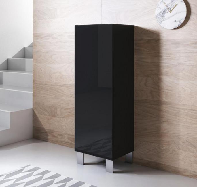 meuble-tv-luke-v1-40x126-pieds-aluminium-noir