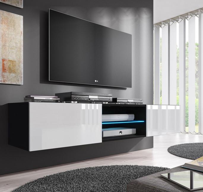 meuble tv tibi noir blanc