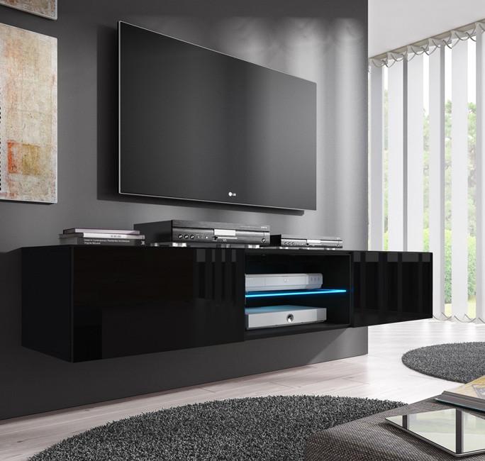 meuble tv tibi noir