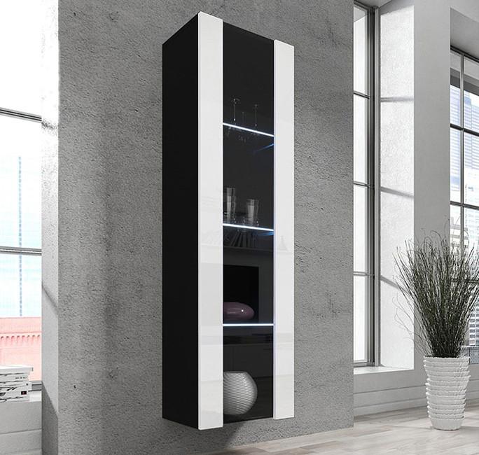vitrine capri noir blanc