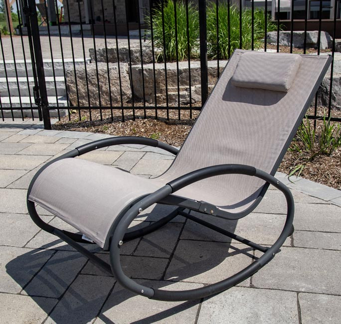 Tumbona wave Rocker - Aluminum - Macchiato on Matte Grey