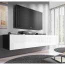 meuble tv forli xl noir blanc