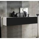 meuble tv krista h150 blanc noir