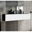 meuble tv krista h150 noir blanc