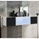 meuble tv krista h150cc blanc noir