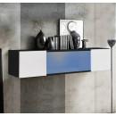 meuble tv krista h150cc negro blanc