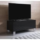 meuble-tv-luke-h1-100x30-pieds-aluminium-nero