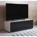 meuble-tv-luke-h1-100x30-pieds-blanc-noir