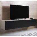 meuble-tv-luke-h2-160x30-blanc-noir