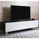 meuble-tv-luke-h2-160x30-pieds-aluminium-noir-blanc