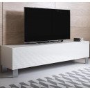 meuble-tv-luke-h2-160x30-pies-aluminium-blanc