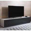 meuble-tv-luke-h2-160x30-pies-blanc-noir