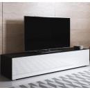 meuble-tv-luke-h2-160x30-pies-noir-blanc