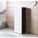 meuble-tv-luke-v1-40x126-pieds-nero-blanc.
