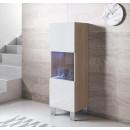 meuble-tv-luke-v3-40x126-pieds-aluminium-sonoma-blanc