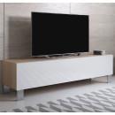 mueble-tv-luke-h2-160x30-pieds-aluminium-sonoma-blanc