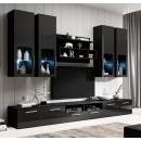 mueble salon arcade negro