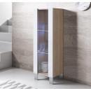 vitrine-luke-v2-40x126-pieds-aluminium-sonoma-blanc