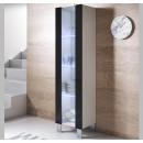 vitrine-mural-luke-v5-40x165cc-pieds-aluminium-blanc-noir.