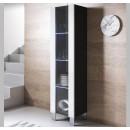 vitrine-mural-luke-v5-40x165cc-pieds-aluminium-noir-blanc