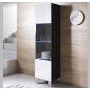 vitrine-mural-luke-v6-40x165cc-pieds-aluminium-noir-blanc