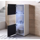 vitrine-pieds-blanc-luke-v6-40x126cc-blanc-noir-ouvert
