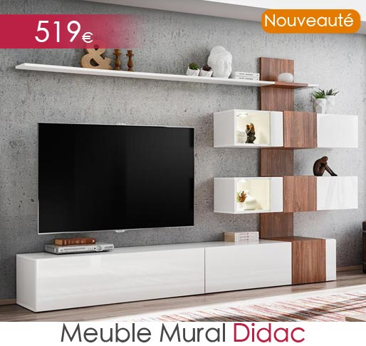 Meuble mural TV Didac