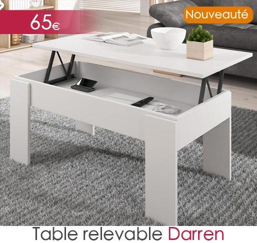 Table relevable Darren